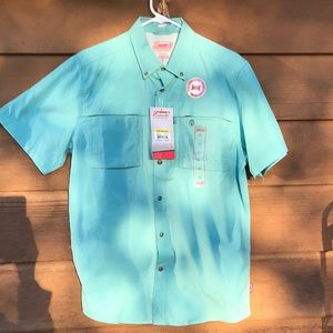 Coleman Anglers Multi Pocket Out Door Button Down